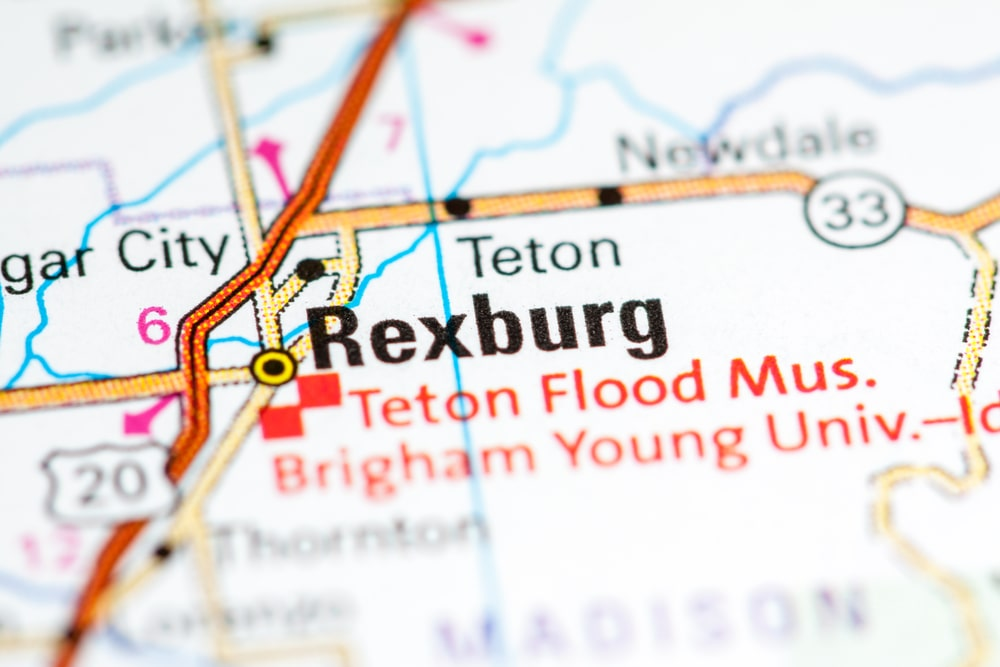 Rexburg Idaho On A Map